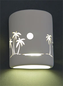 AmeriTec Lighting Indoor and Outdoor Ceramic, Glass, and Metal Lights: Cut and Etch Patterns